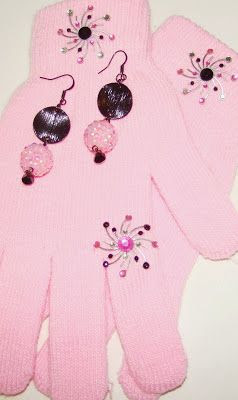 A Bead A Day: Special Gloves call for Special Earrings!