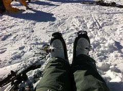 Pieds dans la neige