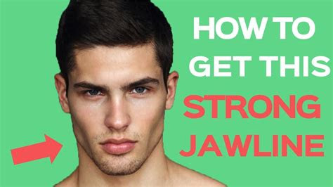 strong jawline  tips    structured