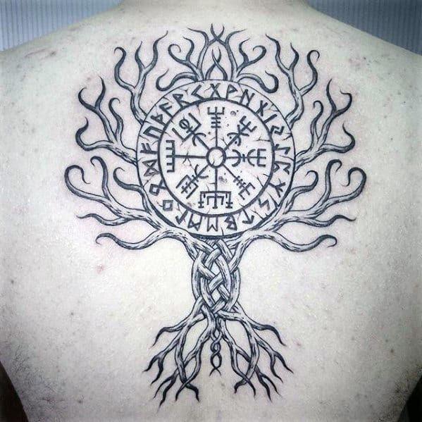 70 Viking Compass Tattoo Designs For Men Vegvísir Ink Ideas