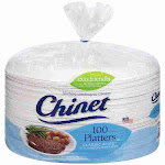 "Chinet Classic White 12-5/8 x 10"" Platters (100 ct"
