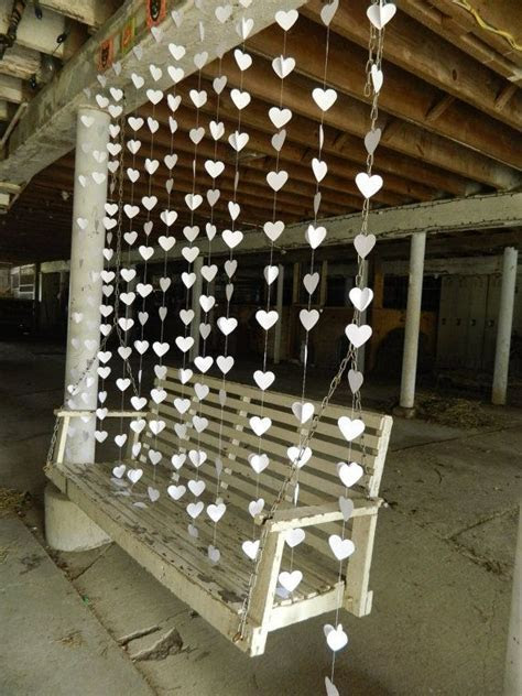 Wedding heart garland / DIY Wedding Curtain / Curtain
