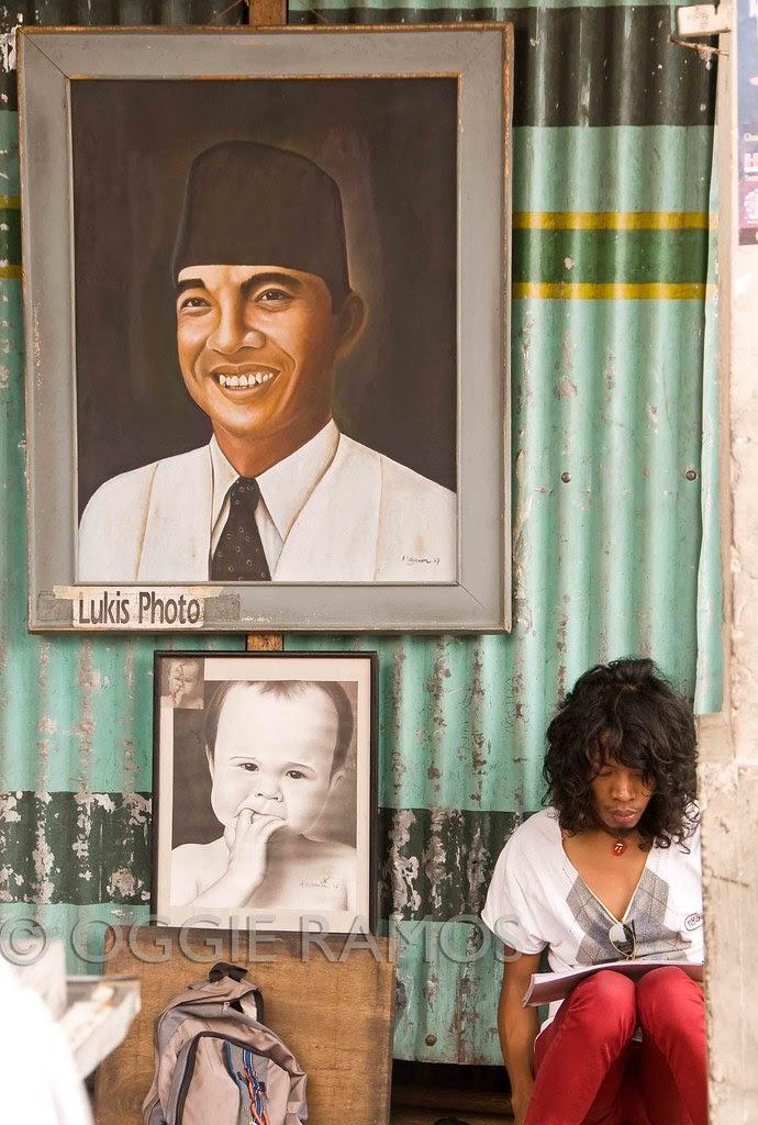 Indonesia - Malioboro Sidewalk Artist