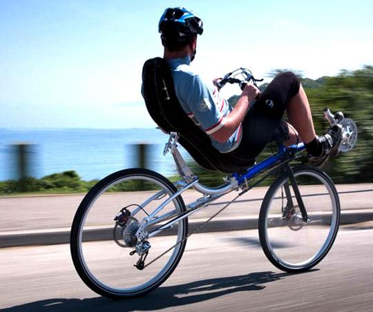 bici reclinata
