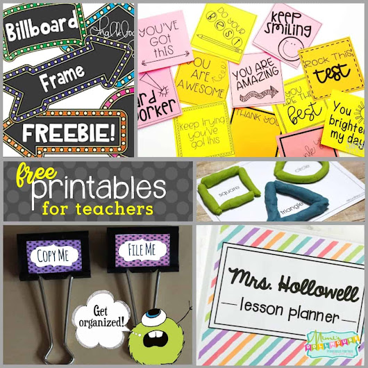 Back to School: FREE Printables for Teachers - Mimi's Dollhouse