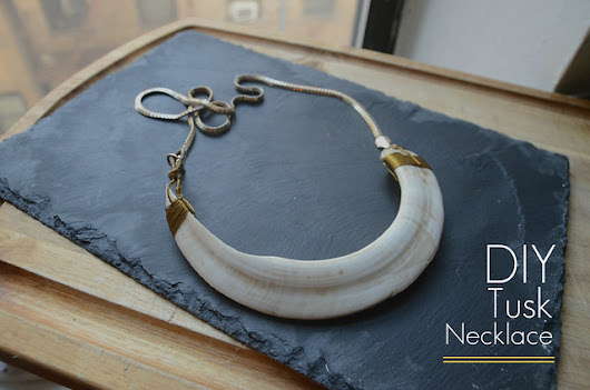Stars for Streetlights: DIY Tusk Necklace
