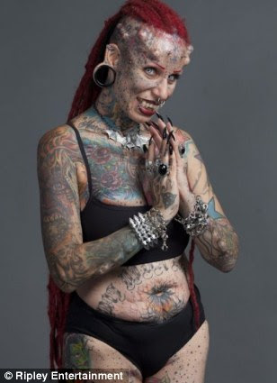 Waxworks of the 35-year-old tattoo artist, from Mexico, will feature at Ripley's Believe It Or Not! attractions around the world
