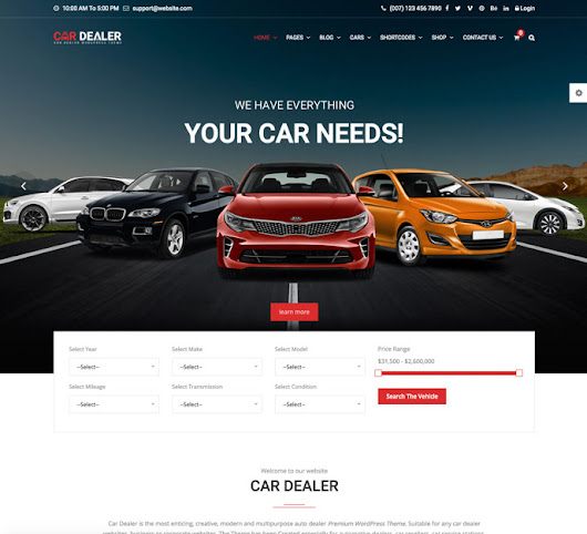 20+ Best Responsive Car Dealer, Automotive WordPress Themes 2017 - DesignMaz