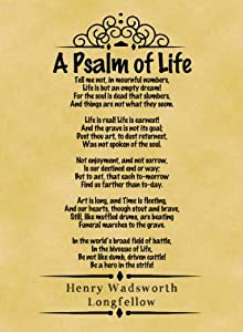 ... Classic Poem Henry Wadsworth Longfellow A Psalm of Life Part One