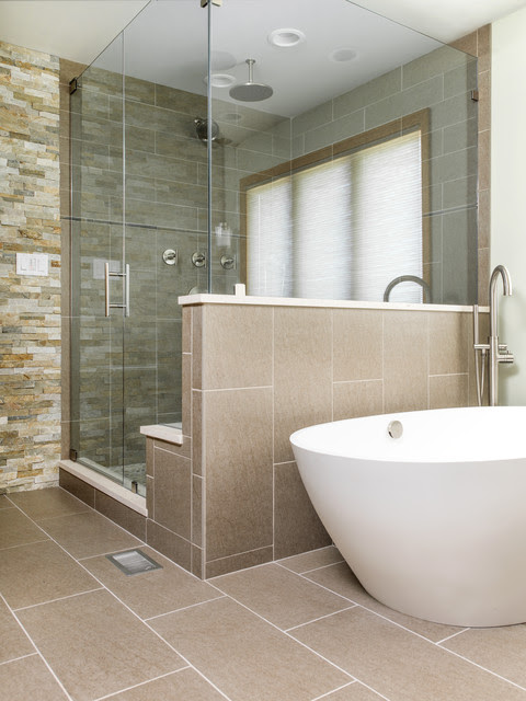 Master Shower & Freestanding Tub