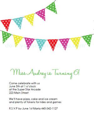 Free Printable Birthday Party Invitation Templates