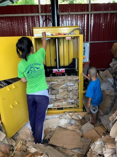 Vertical Baler Enables Laos Recycling Company to Ship 10X More! - Harmony