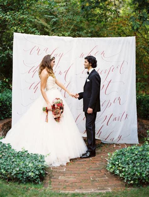 Wedding ceremony backdrop idea   The Perfect Backdrop