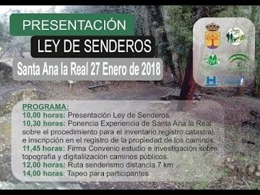 LEY DE SENDEROS DE ANDALUCÍA