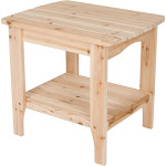 Shine Company Rectangular Side Table - Natural