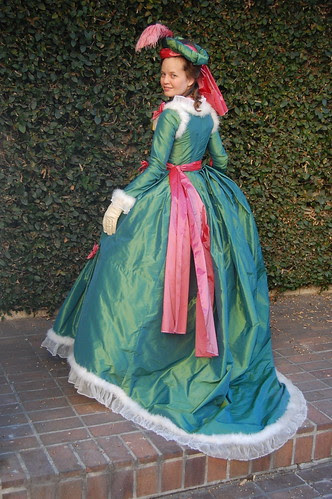 Pink and Green Court Dress at Costume College