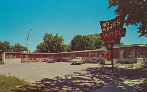 wish you were hear 40 winks motel alpena michigan. Black Bedroom Furniture Sets. Home Design Ideas