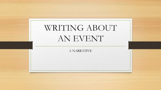 Writing about an event