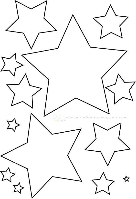 Estrellas Para Colorear Infantiles Adorable Dibujos Infantiles