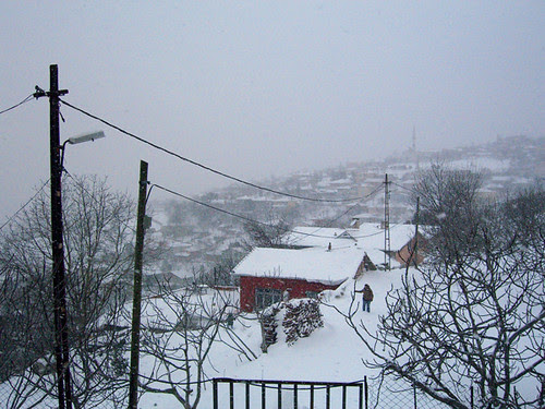 Büyükdere under snow