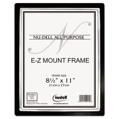 Ez Mount Ii Document Frame Plastic 8 12 X 11 Blacksilver Ram