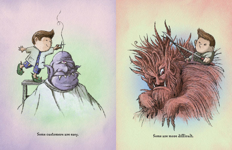 Even Monsters Need Haircuts illustrations