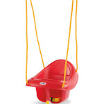 Little Tikes 637247 Highback Plastic Toddler Playset Swing with Seat Belt, Red by VM Express
