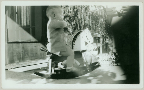 Boy on rocking horse