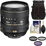 """""""Nikon AF-S DX NIKKOR 16-80mm f/2.8-4E ED VR Lens with 3 UV/CPL/ND8 Filters 
