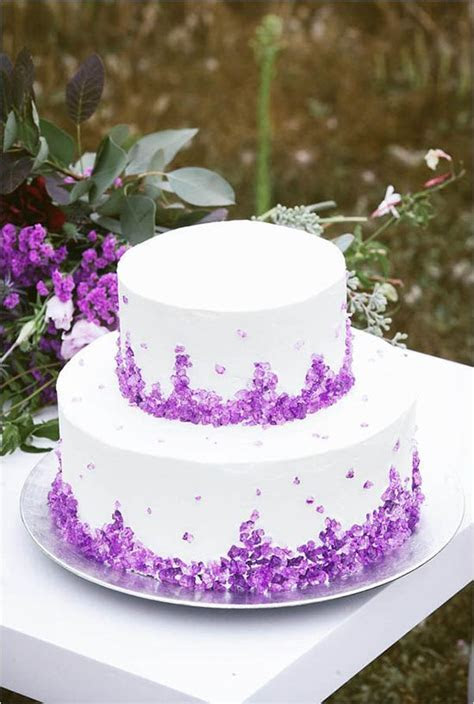 Natural Crystal Wedding Ideas   Cakes & Dessert Tables