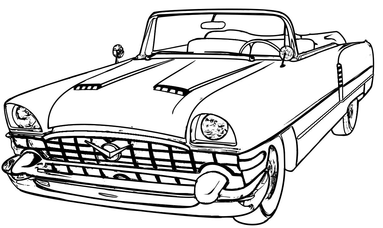 440 Top Free Coloring Pages Muscle Cars Pictures