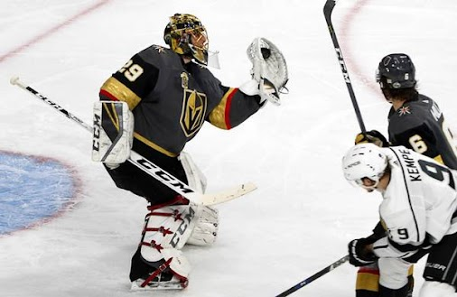 Fleury's shutout performance bodes well for Golden Knights