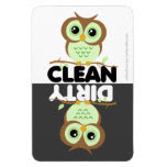 Cute Green Owl Dishwasher Magnet