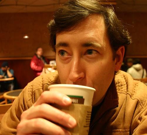 jonny drinking tea