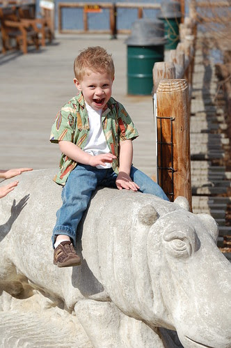 Garrett at the zoo