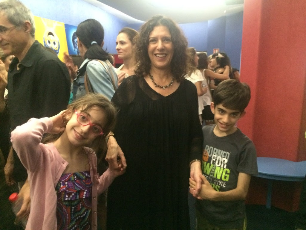 Tamar, Paola and Marco after the film