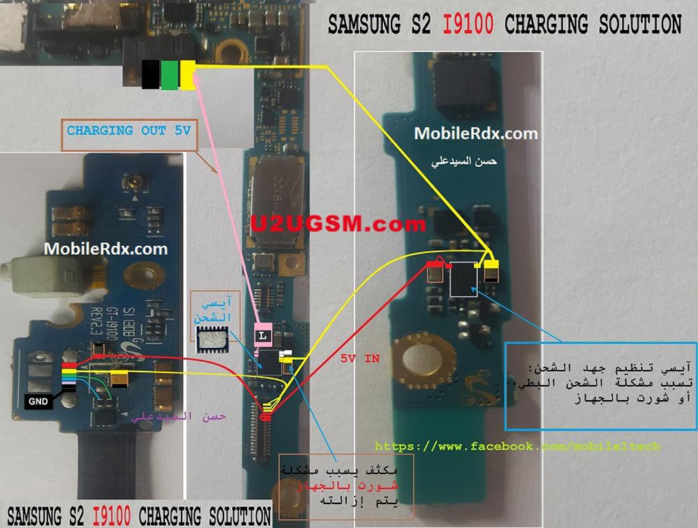 Samsung I9100G Galaxy S II Usb Charging Problem Solution Jumper Ways