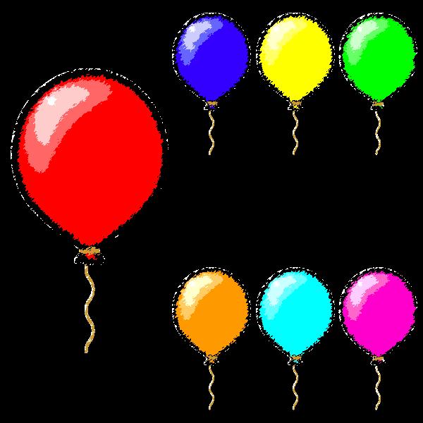 手書き風でかわいい風船の無料イラスト 商用フリー オイデ43