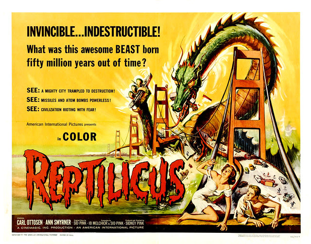Reynold Brown - Reptilicus (American International, 1961) halfsheet