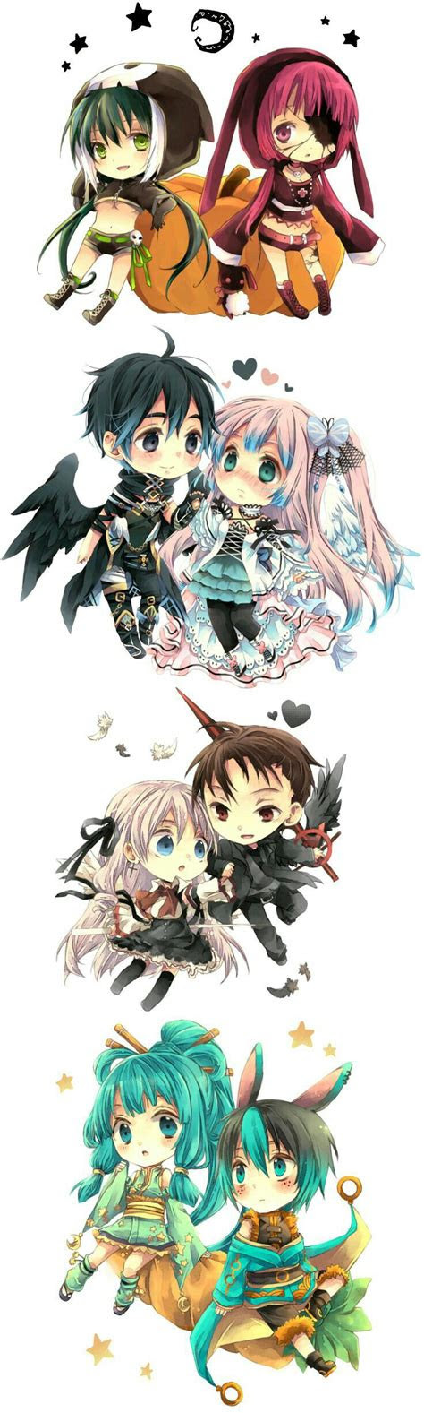 chibis characters images  pinterest kawaii