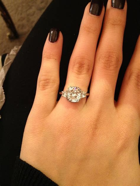 3 carat, 3 stone diamond engagement ring! So sparkly