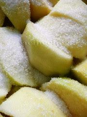 las manzanas y su azúcar