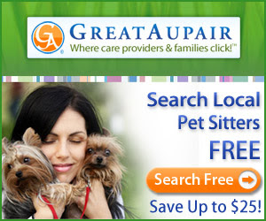 Who's Your Pet Sitter? Hire Smart. Save $25