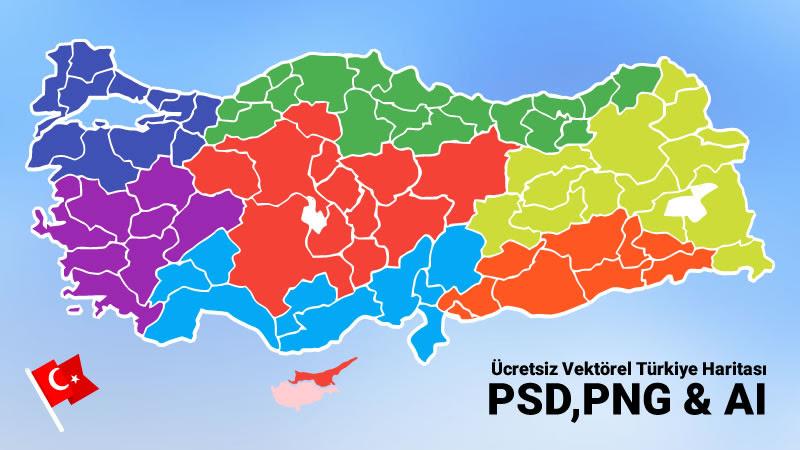 ücretsiz Il Katmanlı Vektörel Türkiye Haritası Psdpngai Spaksu Blog