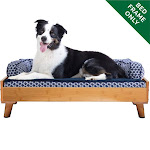 FurHaven Pet Bed Frame   Bed Frame For Pet Beds & Mattresses (Bamboo, Large)