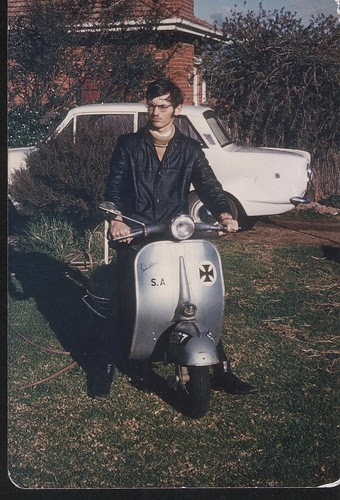 Vespa 1970 or there abouts, mild mannered young rider!!!
