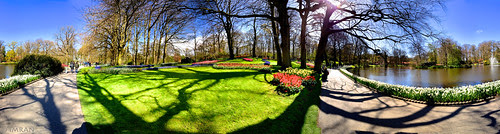 Panorama View Inside Keukenhof Netherlands - IMRAN™ by ImranAnwar