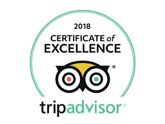 Thank you to our cycling holiday customers for our 2018 TripAdvisor Certificate of Excellence