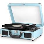 Victrola Bluetooth Suitcase 3-Speed Turntable Turquoise