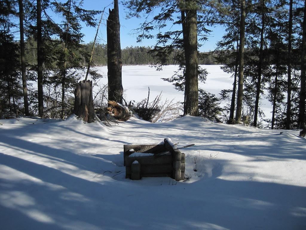Fire place, North Island, Big Wolf Lake